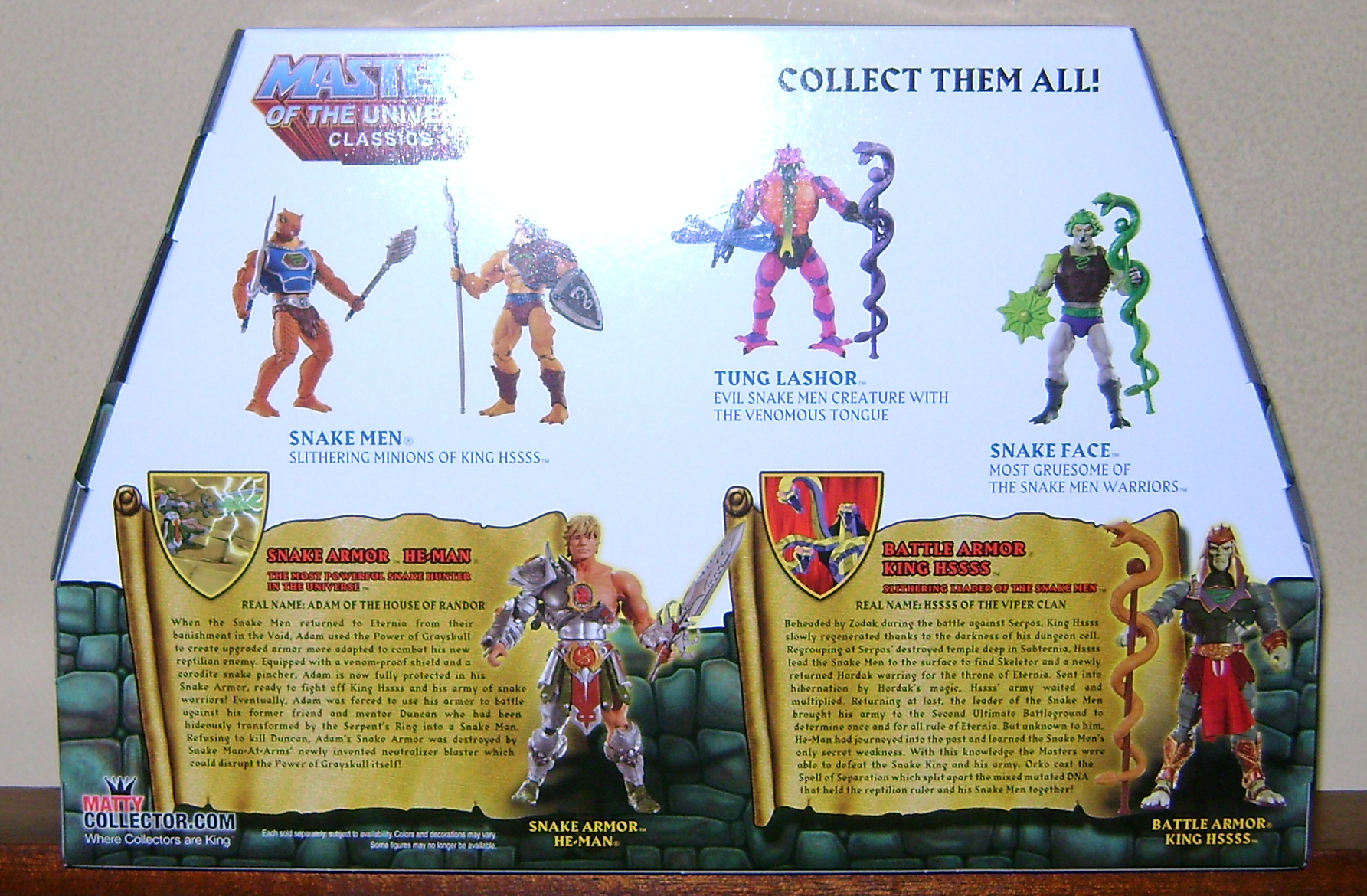 HeKH 2 MOTUC: 2015; Feb {Part 2} Snake Armor He Man and King Hssss!