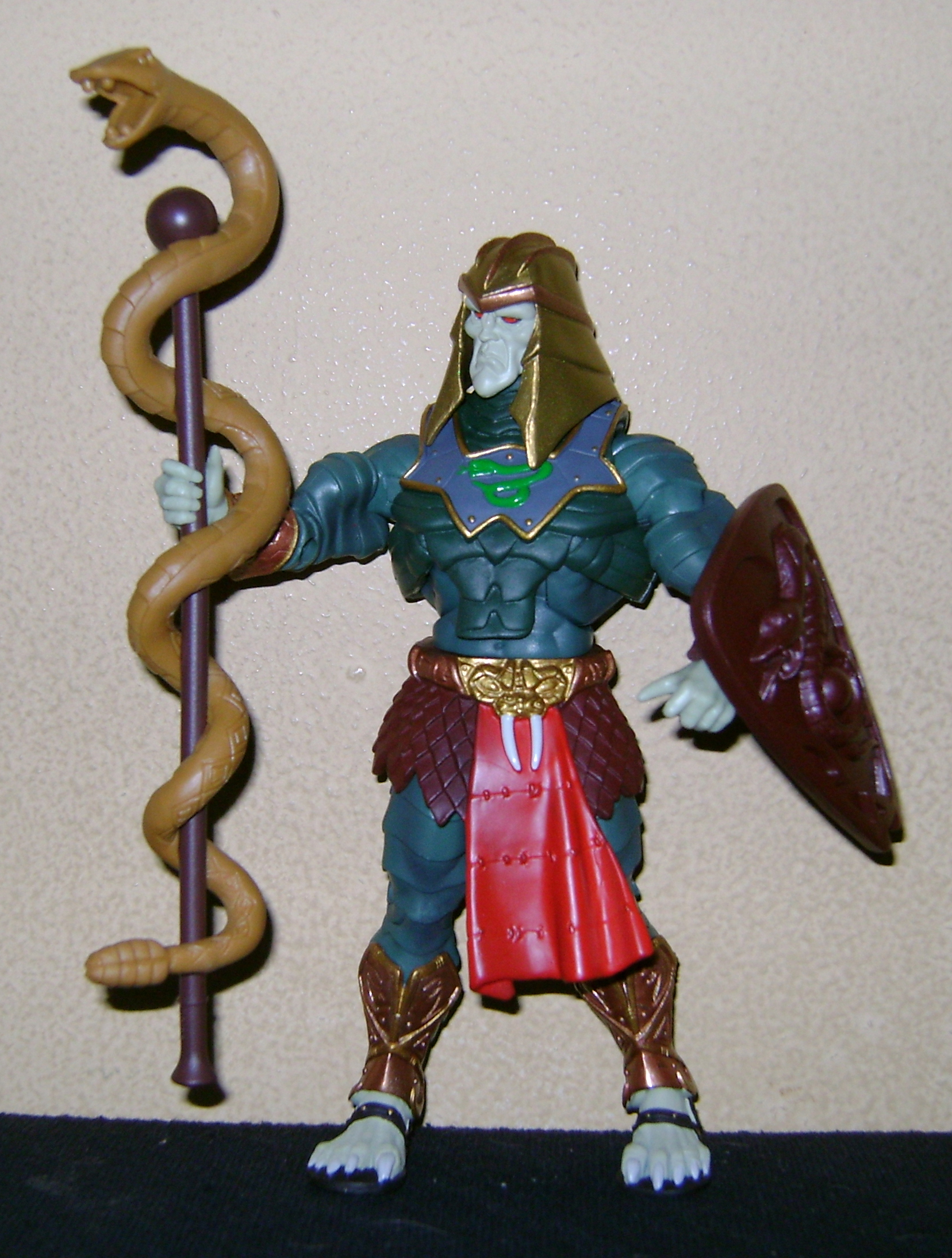 HeKH 5 MOTUC: 2015; Feb {Part 2} Snake Armor He Man and King Hssss!