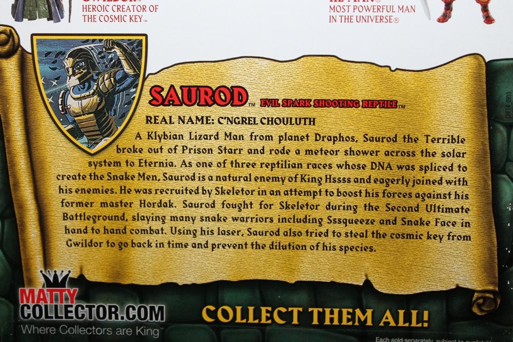 009 MOTUC 2015: September  Saurod!