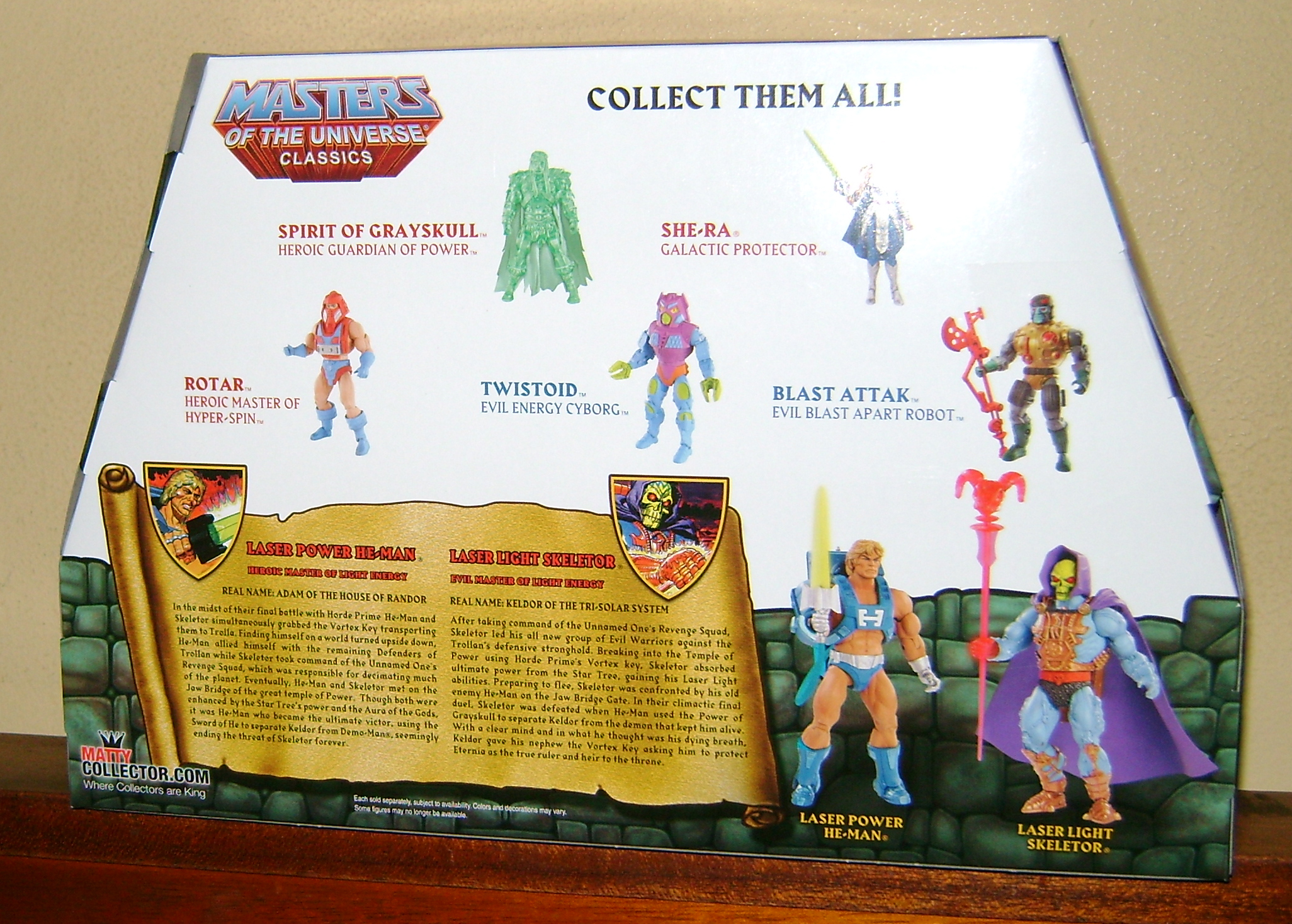 Las 2 Final MOTUC: Prahvus, Son Of He Man and Laser Power He Man With Laser Light Skeletor!