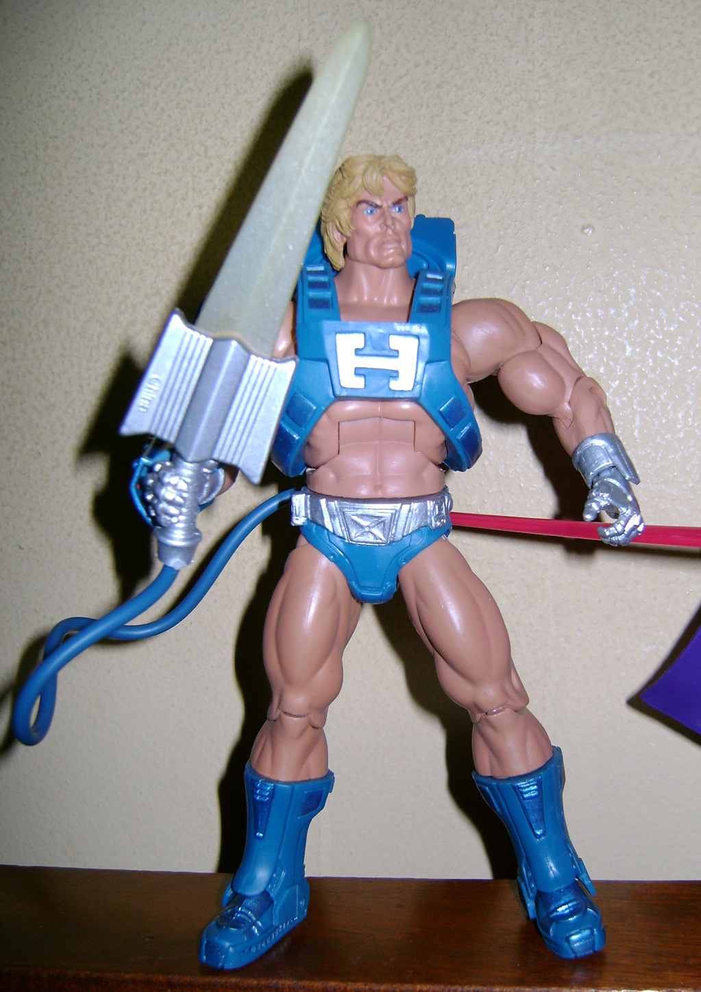 Las 4 Final MOTUC: Prahvus, Son Of He Man and Laser Power He Man With Laser Light Skeletor!