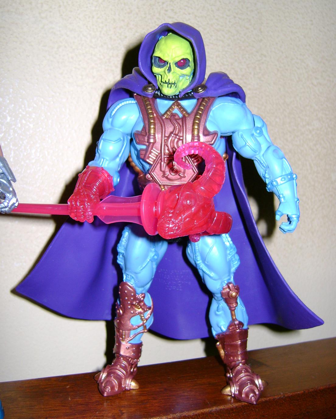 Las 5 Final MOTUC: Prahvus, Son Of He Man and Laser Power He Man With Laser Light Skeletor!