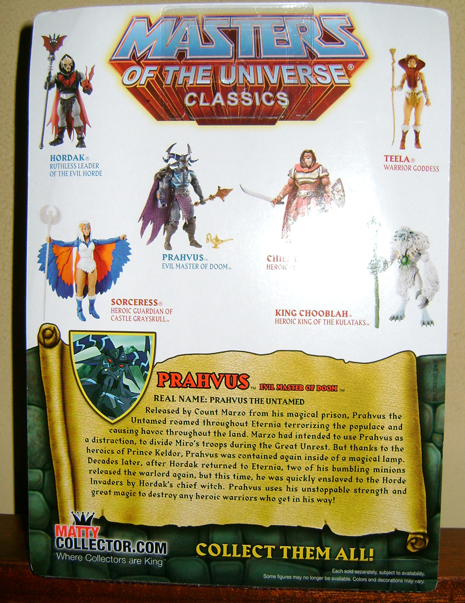 Pra 2 Final MOTUC: Prahvus, Son Of He Man and Laser Power He Man With Laser Light Skeletor!