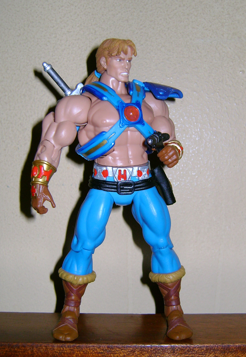 Son 5 Final MOTUC: Prahvus, Son Of He Man and Laser Power He Man With Laser Light Skeletor!