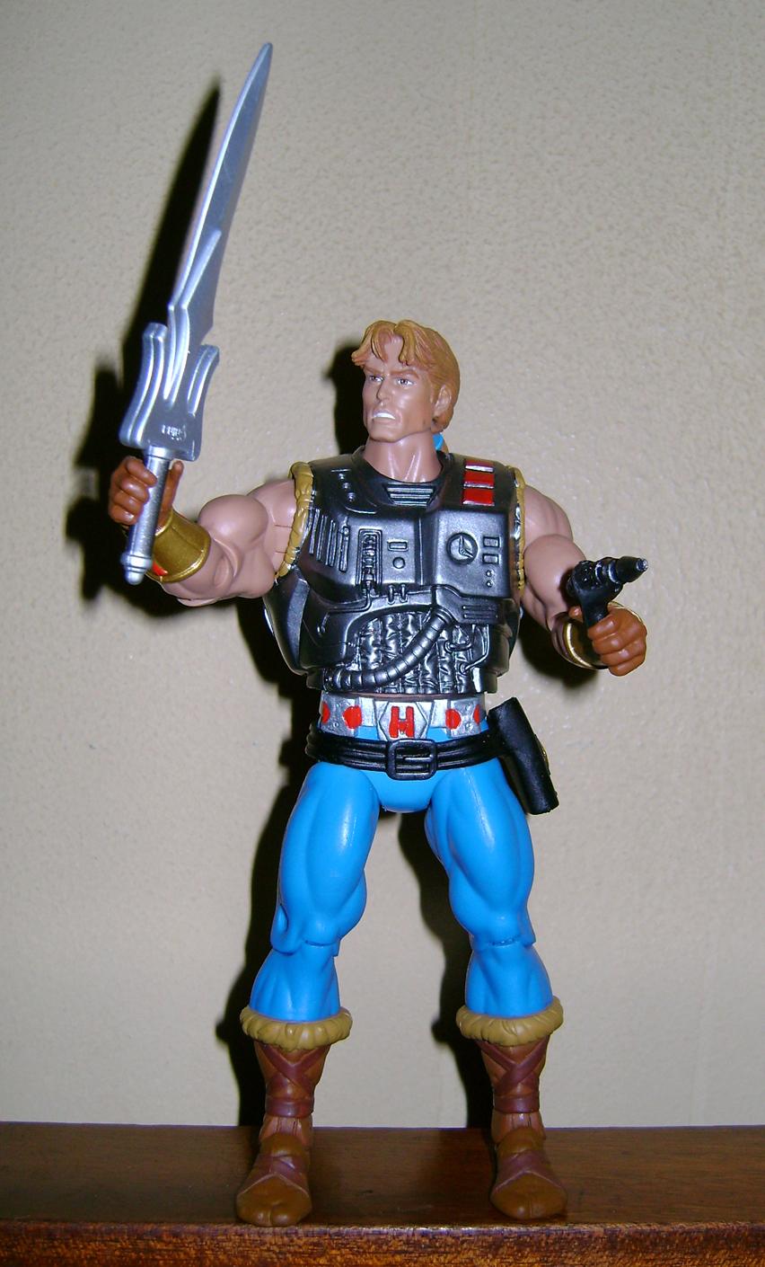 Son 8 Final MOTUC: Prahvus, Son Of He Man and Laser Power He Man With Laser Light Skeletor!