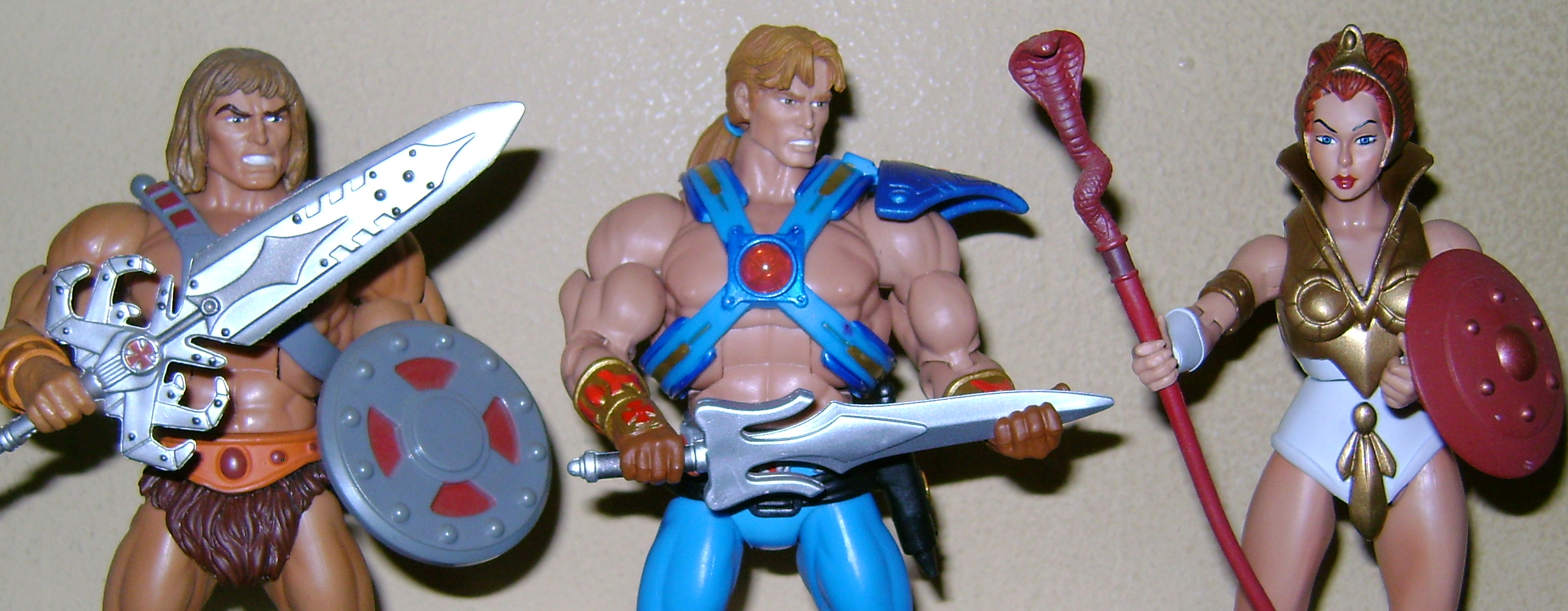 Final MOTUC: Prahvus, Son Of He-Man and Laser Power He-Man With Laser Light Skeletor!